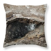 Bubbling Spring In Upper Geyser Basin Throw Pillow