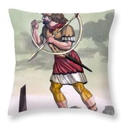 Buccinatore, Military Horn-blower Throw Pillow