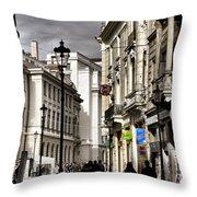 Bucharest The Little Paris Throw Pillow