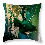 Buck A Deer Throw Pillow