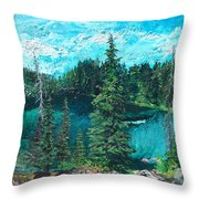Buck Lake Throw Pillow