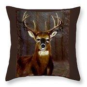 Buck On Slate  Throw Pillow