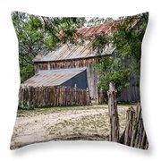 Buck Ranch Barn Throw Pillow
