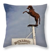 Buckaroo's Saloon Throw Pillow