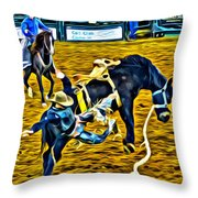 Bucked Off Proper Throw Pillow
