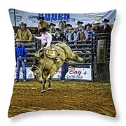 Bucked Out Throw Pillow