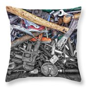 Bucket Of Tools Sc Throw Pillow