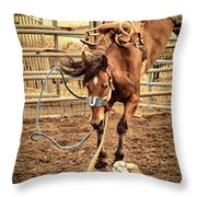 Bucking Throw Pillow by Caitlyn  Grasso