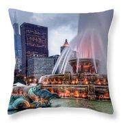 Buckingham Fountain - 2 Throw Pillow
