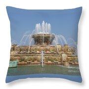 Buckingham Fountain - Chicago Throw Pillow