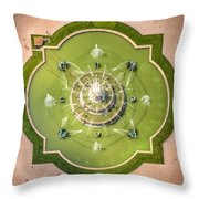 Buckingham Fountain From Above Throw Pillow