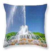 Buckingham Fountain Spray Throw Pillow