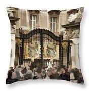 Buckingham Palace Gates Throw Pillow