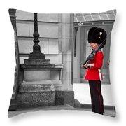 Buckingham Palace Guards Throw Pillow