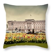 Buckingham Palace In London Uk Throw Pillow