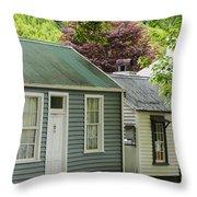 Buckingham Street Cottages Throw Pillow