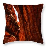 Buckskin Gulch 11 Throw Pillow