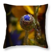 Bud Blooming Throw Pillow