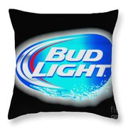 Bud Light Splash Throw Pillow