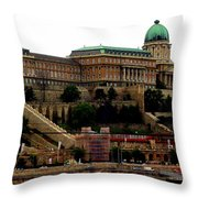 Buda Castle In Budapest Throw Pillow