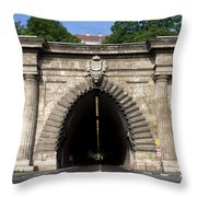 Buda Tunnel In Budapest Throw Pillow