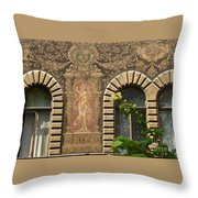 Building Exterior Throw Pillow