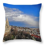 Budapest And Fisherman's Bastion Throw Pillow