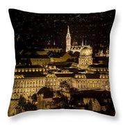 Budapest Castle Throw Pillow