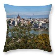 Budapest City Throw Pillow