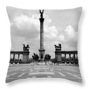 Budapest: Heroes Square Throw Pillow