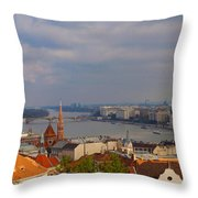 Budapest Hungary Cityscape Throw Pillow