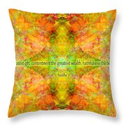 Budda Quote On Life Throw Pillow
