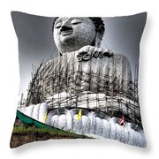 Buddha Aura Throw Pillow