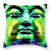 Buddha Throw Pillow by Daniel Janda