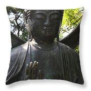 Buddha Detail Throw Pillow