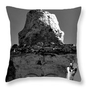 Buddha Eyes On Stupa Throw Pillow