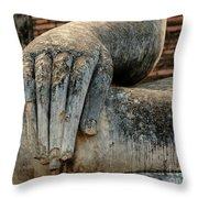 Buddha Hand Thailand Throw Pillow