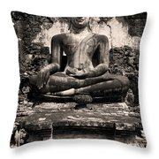 Buddha In Meditation Statue Throw Pillow