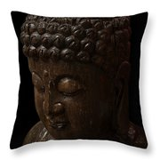 Buddha In The Dark Throw Pillow