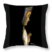 Buddha Throw Pillow by Judy M Watts-Rohanna