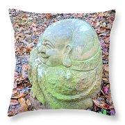 Buddha Looking Left Throw Pillow
