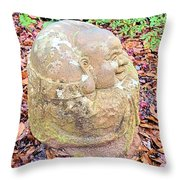 Buddha Looking Right Throw Pillow