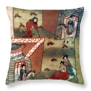 Buddha Prince Siddhartha Throw Pillow