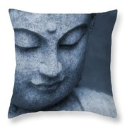 Buddha Statue Throw Pillow by Dan Sproul