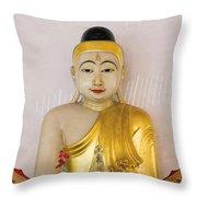 Buddha Statue In Thailand Temple Altar Throw Pillow