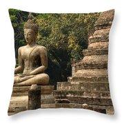Buddha Sukhothai Thailand 6 Throw Pillow