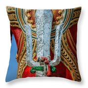 Buddha Trident Sword Throw Pillow