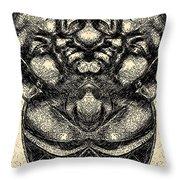 Buddha Vase Throw Pillow