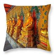 Buddhas At Wat Arun, Bangkok Throw Pillow