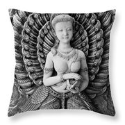 Buddhist Carving 02 Throw Pillow